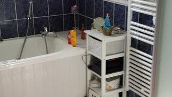 salle de bain pour une personne handicapée - avant