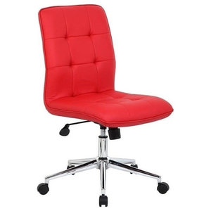 Scranton & Co Modern Office Chair in Red