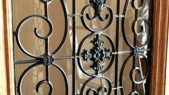 Custom Leaded Glass Door Panels