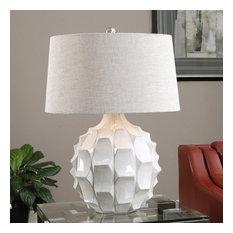 Uttermost Guerina Scalloped Lamp, White