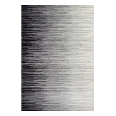 Electricity Ombre Rug, Black, 5'x7'5""