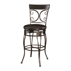 L Powell Big and Tall Back to Back Scroll Barstool Bar Stools And