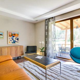 Пример оригинального дизайна интерьера: идея дизайна в стиле модернизм