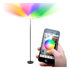 Brightech Sky Colors - Color Changing Torchiere LED Smart Floor Lamp - Black
