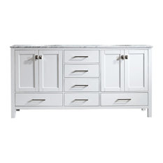 "Gela Single Vanity, White, 72"", Without Mirror"