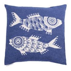 Shoal of Fish Cushion Cover, Denim Blue, Large