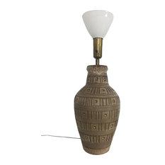 Design Technics Incised Ceramic Table Lamp