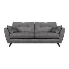 Kai Modern Sofa, Steel Grey, 3 Seater