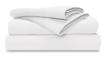 Wicked Sheets Moisture-Wicking/Cooling Bed Sheet Set, White, King, Standard Pock