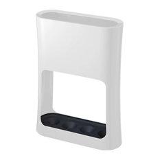 Oval Umbrella Stand, White