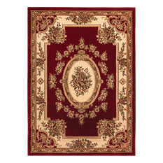"Well Woven Timeless Red Area Rug, 6'7""x9'3"""