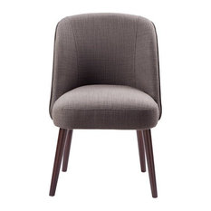 Madison Park Bexley Rounded Back Dining Chair, Charcoal