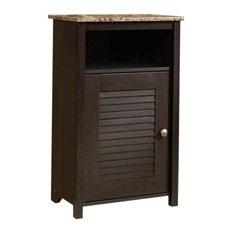 Pemberly Row Floor Cabinet Cinnamon Cherry Wine And Bar Cabinets