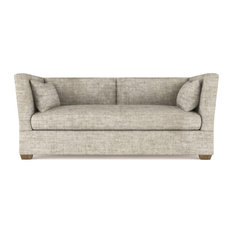 Rivington 6' Crushed Velvet Sofa Oyster Classic Depth