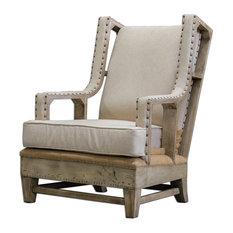 Uttermost Schafer Linen Armchair