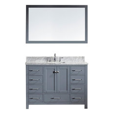 "Caroline Avenue 48"" Single Bathroom Vanity Set Gray, Marble Top"