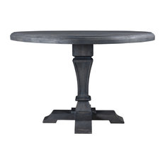 Carmenita Round Dining Table, Gray Finish