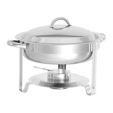 3.7 qt. Round Stainless Chafer, Each