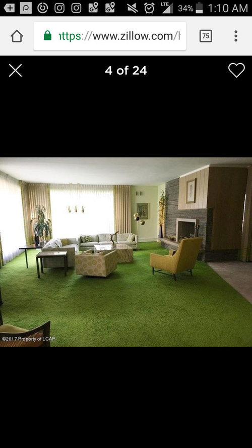 How Do I Make My Living Room With Bright Green Carpet Modern