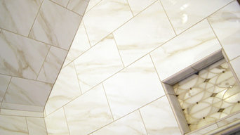 Marble Bath, Artistic Marble and Glass Accent