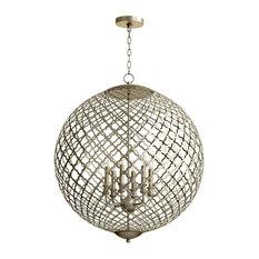 Cyan Design Skyros Six Light Pendant, Silver