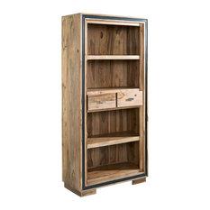 Lingfield Sheesham Large Wide Bookcase