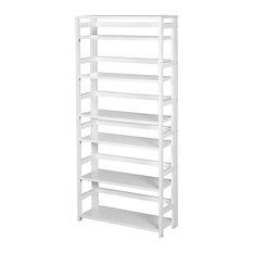 "Flip Flop 67"" High Folding Bookcase, White"
