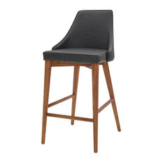 Erin Counter Stool Antique Gray With Walnut Legs