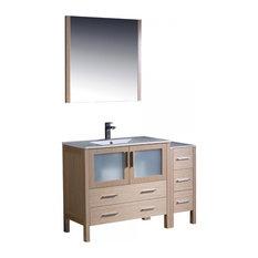 "Fresca Torino 48"" Light Oak Bathroom Vanity and Integrated Sink"