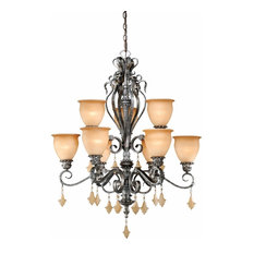 Vaxcel Lighting Athenian Bronze Montmarte 9-Light Chandelier