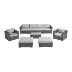 Cortez Sea Outdoor Wicker Furniture Sectional Sofa Set