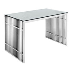 Modway   Gridiron Stainless Steel Office Desk   Desks And Hutches