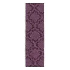 "Central Park AWHP-4013 Purple Rug, 2'3""x8'"