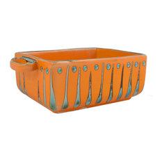 Feba Italia - Orange Frida High Rectangular Ceramic Baking Dish - Baking Dishes