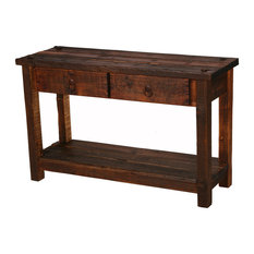 Rustic Heritage 2 Drawer Sofa Table   Console Tables