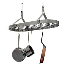 Premier Contemporary Oval Hanging Pot Rack