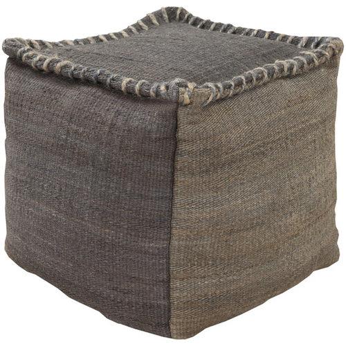 Surya Poufs- (POUF-247) - Floor Pillows And Poufs