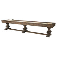 Plank & Hide Beamont Rustic Play Surface Wood Frame Shuffleboard Table - 12'