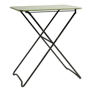 Folding Metal Table, Light Green