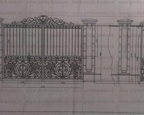 Эскизы кованых перил   Кованые ограждения лестниц и балконов - коллекция эскизов - Заборы и ворота