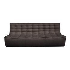 Ethnicraft Oslo 3-Seater Sofa, Dark Grey