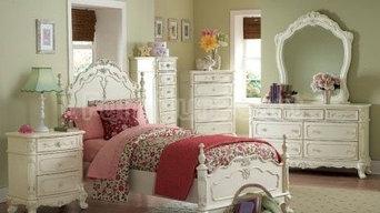 Cinderella Youth Low Post Bedroom Set Homelegance 1386-lp-br-set   Furniture Car