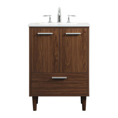 """Bailey 24"""" Bathroom Vanity, Walnut"""