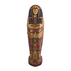 75 1/2-inch Tall Hand-Crafted Queen Ankhesenamum Sarcohpagus Cabinet