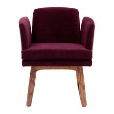 Allison Chair, Eggplant Fabric