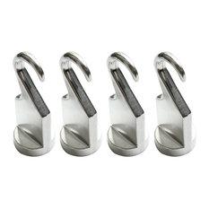Cooks Standard Fixed Pot Rack Solid Cast Pan Hooks, Set of 4
