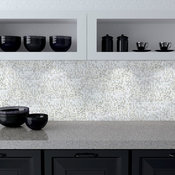 Galaxy 0.3125 in x 0.3125 in. Glass Straight Mosaic in SHOOTING STAR Iridescent