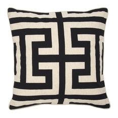 "Lana Printed 22"" Throw Pillow, Black by Kosas Home"