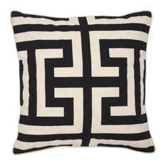 "Lana Printed 22"" Throw Pillow, Black by Kosas Home"