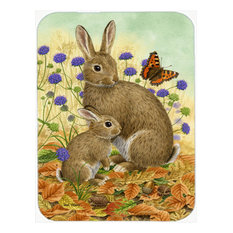 Rabbit and Baby Glass Cutting Board, Large